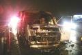 Na diaľnici neďaleko Bratislavy horelo auto prevážajúce peniaze