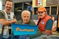 Herci z relácie Pumpa v šoku: Prepad a lupič so zbraňou!