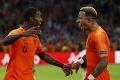 Vtipný moment v zápase Holandska so Španielskom: Pozrite sa, čo vyviedol Depay Wijnaldumovi