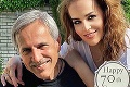 Karin Haydu vystrojila otcovi oslavu: Sedemdesiatnik s tvárou päťdesiatnika