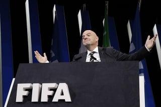 Prezident Medzinárodnej futbalovej federácie (FIFA) Gianni Infantino.