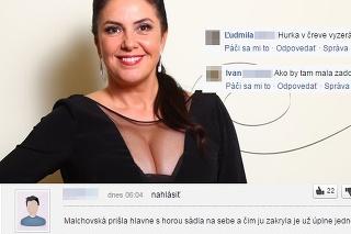 Drsné vtipy na účet Malachovskej.