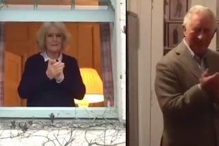 obrazok k videu 13021: Najnovšie zábery nakazeného princa Charlesa: Kráľovská rodina tlieskala zdravotníkom