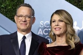 Tom Hanks s manželkou Ritou Wilson.