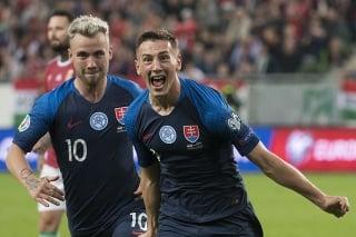 Vpravo strelec druhého slovenského gólu Róbert Boženík.