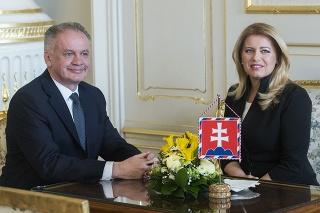 Andrej Kiska na stretnutí so Zuzanou Čaputovou.
