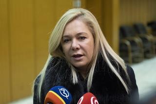 Ministerka vnútra SR Denisa Saková,