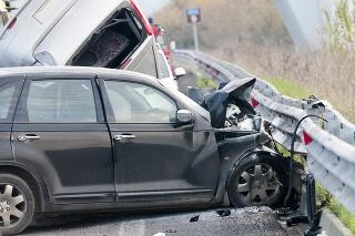 Car accident on italian highway.