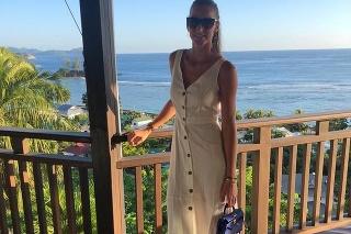 Karolína Plíšková si užíva na dovolenke.
