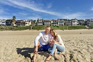 Hokejista smanželkou Ivanou si počas pôsobenia vLos Angeles užívali pláž, ktorú mali neďaleko domu.