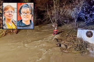 Záchranári pátrali po nezvestných ženách v silnom prúde celú noc.