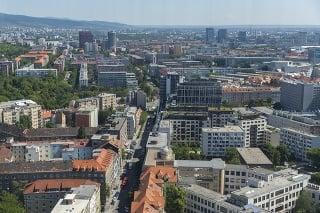 Výhľad na Bratislavu z Národnej banky Slovenska.