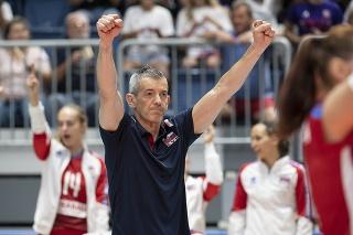 Tréner volejbalistiek Slovenska Marco Fenoglio.