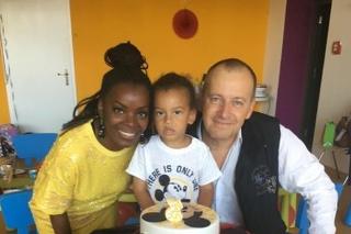 Paula, Boris a ich syn Christian Alexander.
