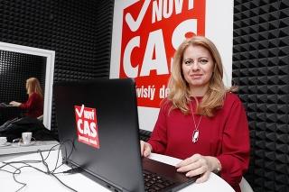 Zuzana Čaputová je online.