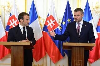 Emmanuel Macron a Peter Pellegrini.