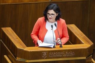 Ministerka Martina Lubyová čelí odvolávaniu v parlamente.
