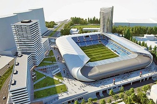 Vizuál nového štadióna.