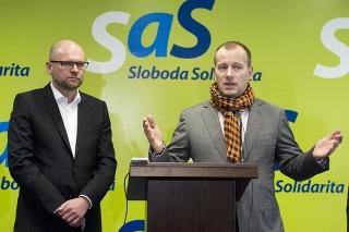 Richard Sulík a Boris Kollár na spoločnej tlačovej konferencii.