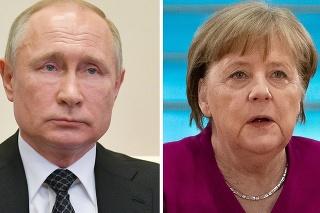 Ruský prezident Vladimir Putin a nemecká kancelárka Angela Merkelová