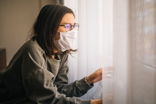 Woman in Isolation Quarantine Coronavirus