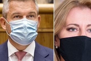 Expremiér Peter Pellegrini, prezidentka SR Zuzana Čaputová a predseda strany SNS Andrej Danko.
