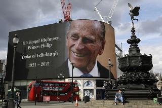 Spomienka na princa Philipa v Londýne.