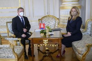 Prezidentka Čaputová sa stretla s ministrom zdravotníctva.