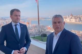 Matovič sa stretol s maďarským premiérom Viktorom Orbánom.