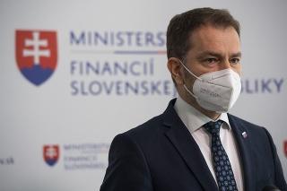 Matovič počas tlačovej konferencie po návrate z pracovnej cesty v Moskve