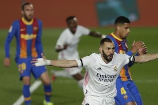 Real Madrid zvíťazil v El Clásicu 2:1 a dostal sa na prvé miesto La Ligy.
