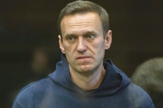 Ruský opozičný líder Alexej Navaľnyj na súde v kauze Yves Rocher.