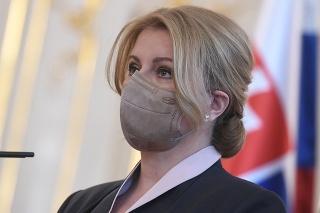 Prezidentka SR Zuzana Čaputová počas vymenovania novej vlády SR v Prezidentskom paláci 1. apríla 2021