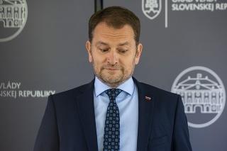 Predseda vlády SR Igor Matovič počas tlačovej konferencie ohľadne svojej diplomovej práce.