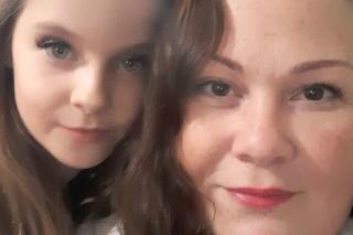 Lilly so svojou mamou.