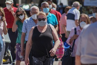 Madrid, Spain - June 18, 2020: People are using mask in their new life routine about Covid-19 pandemic.