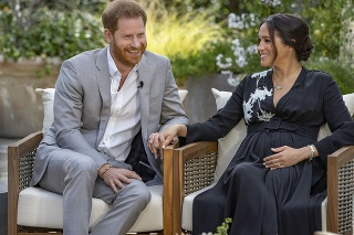 Princ Harry s manželkou Meghan počas rozhovoru