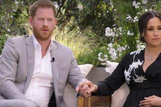 Harry a Meghan počas rozhovoru s Oprah.