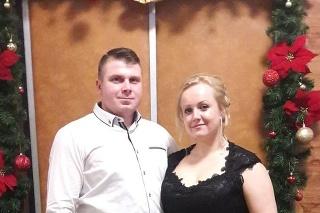 Mária s manželom.