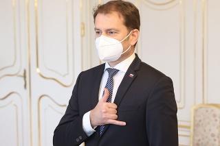Premiér Igor Matovič v Prezidentskom paláci