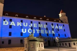 Poďakovanie na Bratislavskom hrade ku Dňu učiteľov.