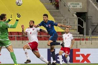 Slovenská futbalová reprezentácia v zápase kvalifikácie MS 2022 nečakane remizovala s Maltou 2:2.