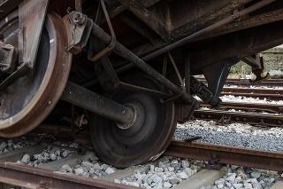 Abandoned railway station with damaged wagons