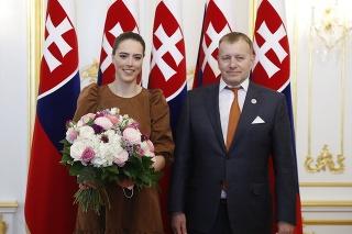 Petru Vlhovú prijal  predseda Národnej rady SR Boris Kollár.