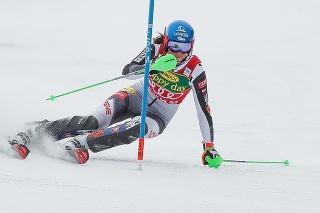 Petra Vlhová počas prvého kola slalomu v Jasnej.
