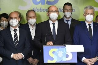 Tlačová konferencia SaS ku vládnej kríze.