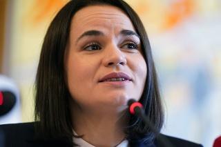 Bieloruská opozičná líderka Sviatlana Cichanovská.