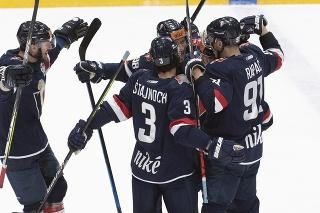 Derby v hokejovej Tipos Extralige medzi HC Slovan Bratislava a HC Košice.