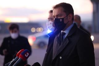 Igor Matovič na letisku v Košiciach.