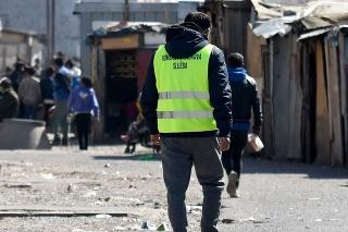 Rómsku osadu Hrb strážia policajti aj vojaci (ilustračné foto).